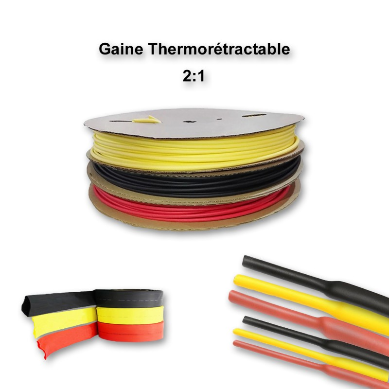 sans colle Gaine thermor/étractable 2:1 Rouge - /Ø 1MM /à 13MM de 0,5m /à 10m /Ø 6mm, 1 M/ètre